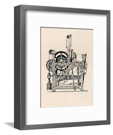 'Power Loom (Side View)', 1836, (1904)-Unknown-Framed Giclee Print
