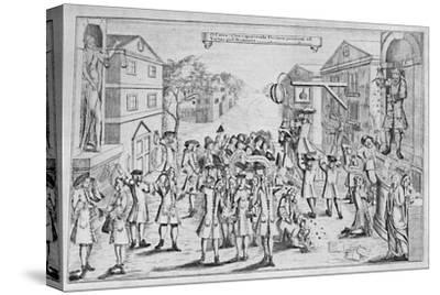 'An Election Won By Bribery', 1727, (1904)-Unknown-Stretched Canvas Print