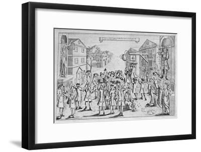 'An Election Won By Bribery', 1727, (1904)-Unknown-Framed Giclee Print
