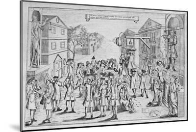 'An Election Won By Bribery', 1727, (1904)-Unknown-Mounted Giclee Print