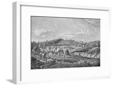 'Coalbrookdale in 1758', 1758, (1904)-Unknown-Framed Giclee Print