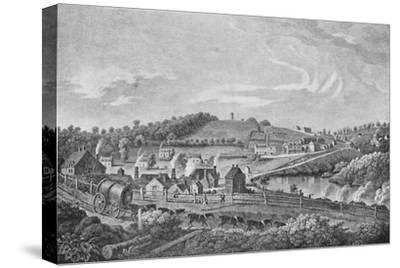 'Coalbrookdale in 1758', 1758, (1904)-Unknown-Stretched Canvas Print