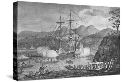 'Otaheite Surrendered to Captain Wallis', 1773, (1904)-Unknown-Stretched Canvas Print