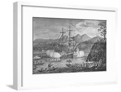 'Otaheite Surrendered to Captain Wallis', 1773, (1904)-Unknown-Framed Giclee Print
