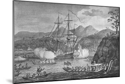 'Otaheite Surrendered to Captain Wallis', 1773, (1904)-Unknown-Mounted Giclee Print