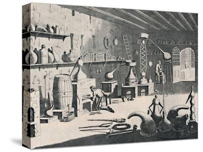 'A Chemical Laboratory in 1747', 1747, (1904)-Unknown-Stretched Canvas Print