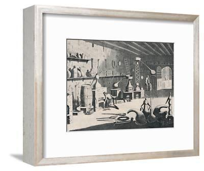 'A Chemical Laboratory in 1747', 1747, (1904)-Unknown-Framed Giclee Print