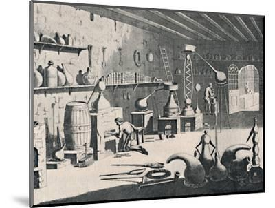 'A Chemical Laboratory in 1747', 1747, (1904)-Unknown-Mounted Giclee Print