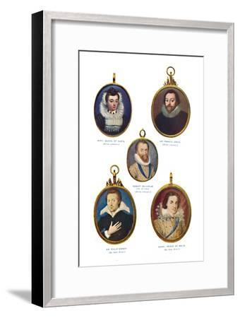 'Miniatures of the Elizabethan Period (Victoria and Albert Museum.)', c1580-1610, (1903)-Unknown-Framed Giclee Print