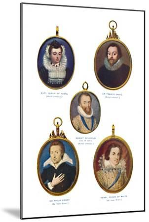 'Miniatures of the Elizabethan Period (Victoria and Albert Museum.)', c1580-1610, (1903)-Unknown-Mounted Giclee Print