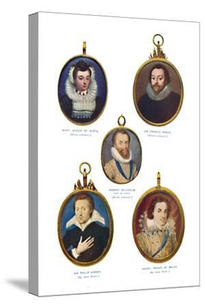 'Miniatures of the Elizabethan Period (Victoria and Albert Museum.)', c1580-1610, (1903)-Unknown-Stretched Canvas Print
