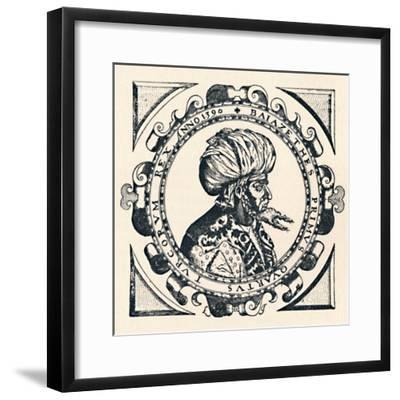 'Portrait of Bajazet', 1603, (1903)-Unknown-Framed Giclee Print