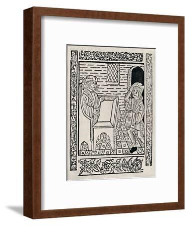 'Tenant Paying Rent', 1523, (1903)-Unknown-Framed Giclee Print