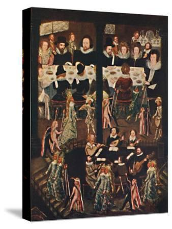 'Marriage Feast of Sir Henry Unton', c1596, (1903)-Unknown-Stretched Canvas Print