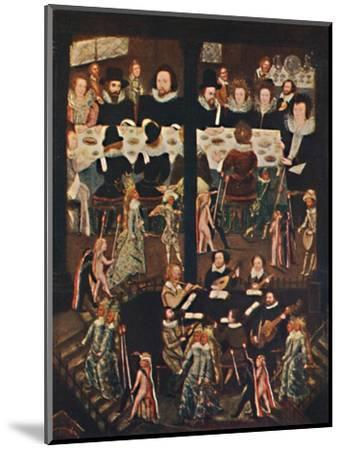 'Marriage Feast of Sir Henry Unton', c1596, (1903)-Unknown-Mounted Giclee Print