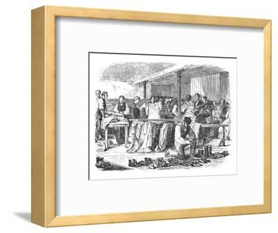 'The Cotton Famine: Distribution of Clothes to Operatives, Manchester', 1904-Unknown-Framed Giclee Print