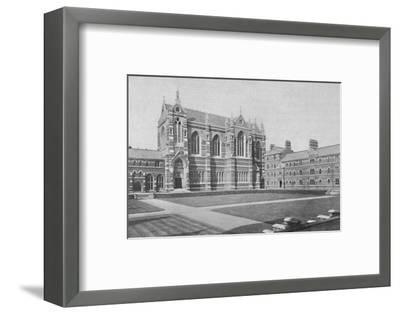 'Quadrangle, Keble College, Oxford', 1904-Unknown-Framed Photographic Print