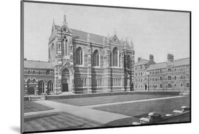 'Quadrangle, Keble College, Oxford', 1904-Unknown-Mounted Photographic Print