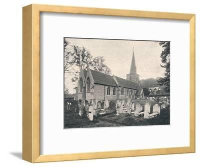 'Hursley Church and Rectory', 1904-Unknown-Framed Photographic Print