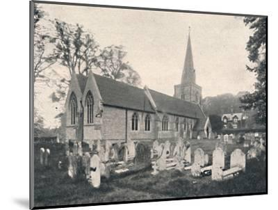 'Hursley Church and Rectory', 1904-Unknown-Mounted Photographic Print
