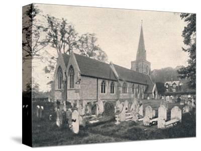 'Hursley Church and Rectory', 1904-Unknown-Stretched Canvas Print