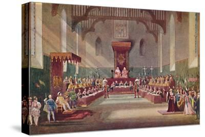 'The Trial Scene in Henry VIII', 1904-Frank Lloyd-Stretched Canvas Print
