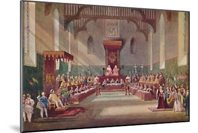 'The Trial Scene in Henry VIII', 1904-Frank Lloyd-Mounted Giclee Print