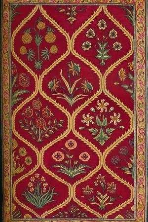 'Woollen Carpet. Indian (Royal Factory of Lahore); 17th Century', 1903-Unknown-Framed Photographic Print