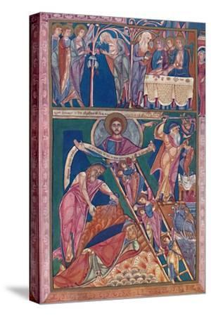'MS. Illumination Showing the Vision of Jacob', 12th century, (1902)-Unknown-Stretched Canvas Print