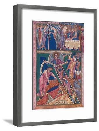 'MS. Illumination Showing the Vision of Jacob', 12th century, (1902)-Unknown-Framed Giclee Print