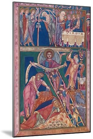 'MS. Illumination Showing the Vision of Jacob', 12th century, (1902)-Unknown-Mounted Giclee Print