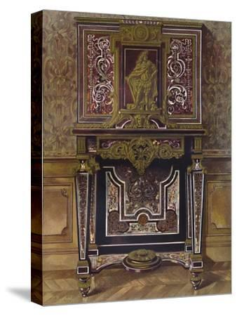 'Marquery Cabinet with decoration in gilt bronze, by AndrÚ Charles Boule', 1903-Unknown-Stretched Canvas Print