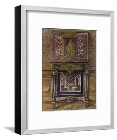 'Marquery Cabinet with decoration in gilt bronze, by AndrÚ Charles Boule', 1903-Unknown-Framed Giclee Print