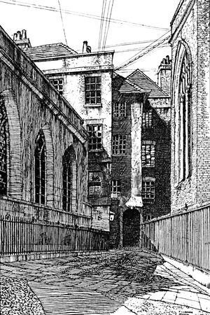 'No. 8, Clifford's Inn, and Hall on Left', 1903-Unknown-Framed Giclee Print