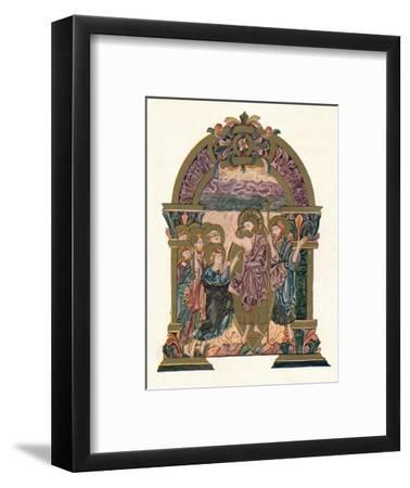 'Page from the Benedictional of St. Ethelwold', c970, (1902)-Unknown-Framed Giclee Print