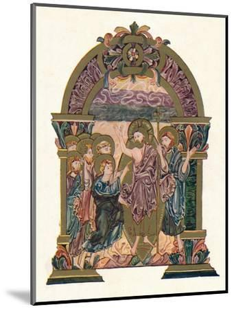 'Page from the Benedictional of St. Ethelwold', c970, (1902)-Unknown-Mounted Giclee Print