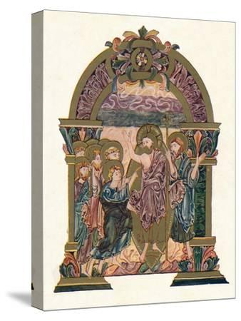 'Page from the Benedictional of St. Ethelwold', c970, (1902)-Unknown-Stretched Canvas Print