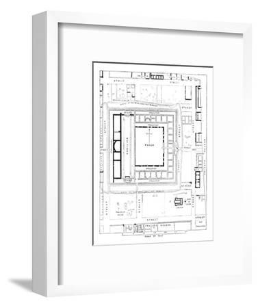 'Plan of Forum, Silchester', 1902-Unknown-Framed Giclee Print
