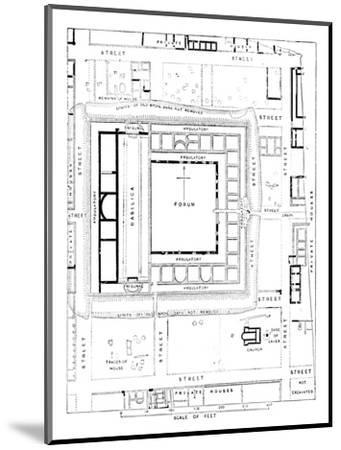 'Plan of Forum, Silchester', 1902-Unknown-Mounted Giclee Print