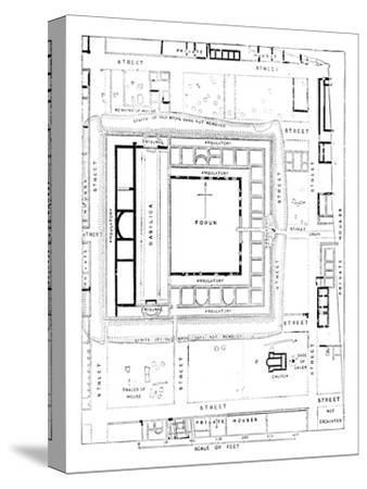 'Plan of Forum, Silchester', 1902-Unknown-Stretched Canvas Print