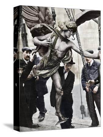 'The removal of Eros', 1925, (1938)-Unknown-Stretched Canvas Print