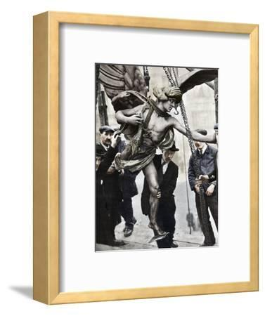 'The removal of Eros', 1925, (1938)-Unknown-Framed Photographic Print
