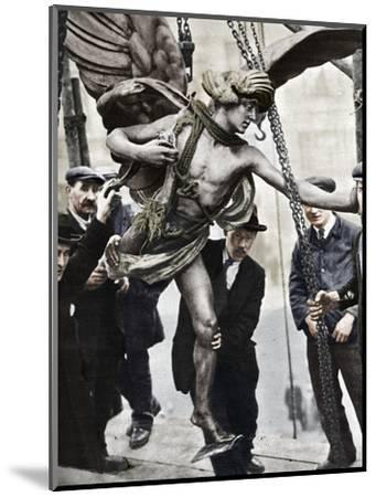 'The removal of Eros', 1925, (1938)-Unknown-Mounted Photographic Print