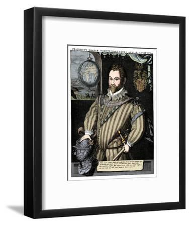 Sir Francis Drake, 16th century, (1910)-Unknown-Framed Giclee Print