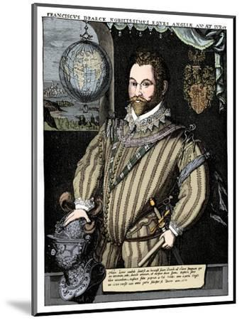 Sir Francis Drake, 16th century, (1910)-Unknown-Mounted Giclee Print