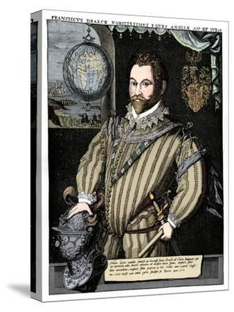 Sir Francis Drake, 16th century, (1910)-Unknown-Stretched Canvas Print