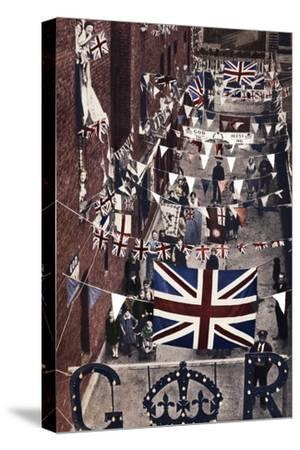 'Blackfriars, London, decoarted for King George VI's coronation', 1937-Unknown-Stretched Canvas Print