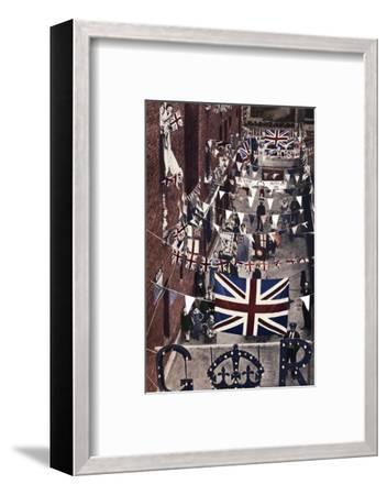 'Blackfriars, London, decoarted for King George VI's coronation', 1937-Unknown-Framed Photographic Print