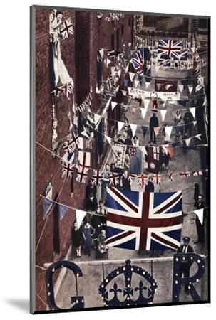 'Blackfriars, London, decoarted for King George VI's coronation', 1937-Unknown-Mounted Photographic Print