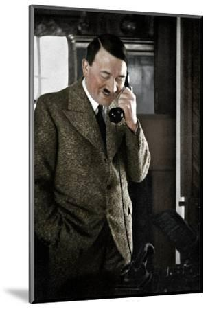 Adolf Hitler on the telephone, January 1935-Unknown-Mounted Photographic Print